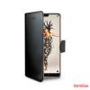CELLY Huawei P20 oldalra nyiló tok, Fekete