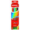ceruza készlet, háromszögletű, vastag, KORES Jumbo, 6 különböző szín, 6 db/készlet (IK93506)