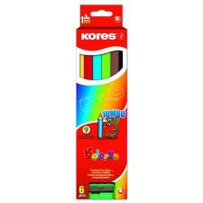 ceruza készlet, háromszögletű, vastag, KORES Jumbo, 6 különböző szín, 6 db/készlet (IK93506) színes ceruza