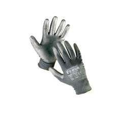 Cerva BUNTING Black nylon PU kesztyű - 9