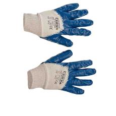 Cerva HARRIER kék mártott nitril kesztyű - 9