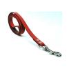 Chaba Bőr póráz, szín: piros 16mm / 130cm