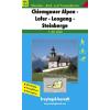 Chiemgauer Alpen-Lofer-Leogang-Steinberge turistatérkép - f&b WK 104
