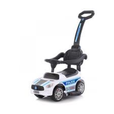 Chipolino Police bébitaxi tolókarral - fehér autópálya és játékautó