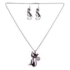 Cica Mica nyaklánc szett, ezüst nyaklánc