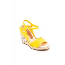 Cipő Montonelli Prémium Valódi Bőr női sárga magassarkú cipő 39 /kac női cipő