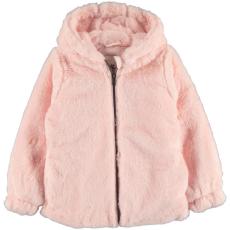 Civil Rózsaszín szőrös kabát