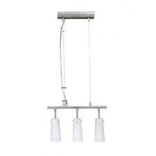 CL-004 függő lámpa, 3x60W, opal üveg, matt nikkel világítás
