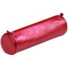 Clairefontaine bőr tolltartó 5,5x22 cm, kerek, piros