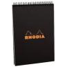 Clairefontaine Rhodia Classic fekete spirálblokk  kockás 80lap  14 8x21cm