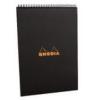 Clairefontaine Rhodia Classic fekete spirálblokk  vonalas 80lap  21x29 7cm