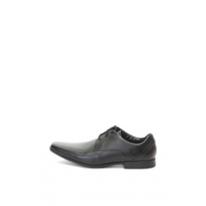 Clarks , Glement bőrcipő, Fekete, 8 (GLEMENT-OVER-BLACK-LEATHER-42)