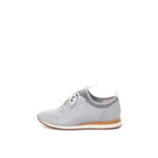 Clarks , Hero Fuse zoknibéléses bőrcipő, Szürke, 4 (HERO-FUSE-GREY-LEATHER-D-37)