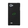 Coby LG P880 Optimus 4X HD fekete vékony műanyag hátlapvédő