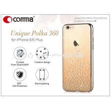 Comma Apple iPhone 6/6S hátlap Swarovski kristály díszitéssel - Comma Unique Polka 360 - champagne gold tok és táska