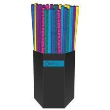 Connect Grafitiron CONNECT HB, metál színű kerek test, 72db/pohár ceruza