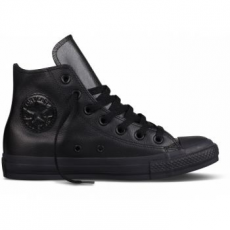 Converse Chuck Taylor All Star Hi Leather Unisex tornacipő, Fekete, 39 (135251C-6)