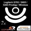 Corepad egértalp Logitech G703 Lightspeed/G603 Lightspeed/G403 HERO/G403 Prodigy/G403 Prodigy Wireless egérhez (08043)