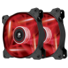 Corsair Air Series SP120 RED LED, 120mm, 3pin, Twin Pack hűtőventillátor