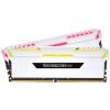 Corsair Vengeance RGB DDR4 3000MHz 16GB Fehér KIT2 CMR16GX4M2C3000C16W