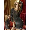 Cottelli Collection Csillogó ruha - fekete/ezüst