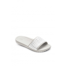CROCS 205130-178 Sloane Graphic Etched Slide W PEARL WHITE/SILVER
