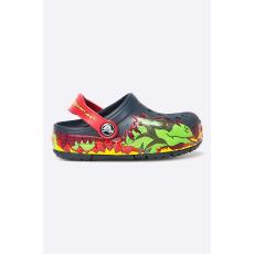 CROCS - Papucs gyerek cipő Crocs Lights - sötétkék