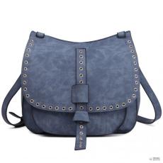 Cross Miss Lulu London LT1727 - Miss Lulu Suede Effect Cross Body Saddle táska kék