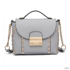Cross Miss Lulu London LT6813-MISS LULU szintetikus bőr pöttyDED CROSS BODY bevásárló táska táska szürke