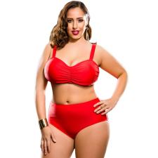 Csakcsajok Piros magas derekú bikini női ruha