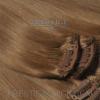 Csatos eredeti póthaj Extravilágos barna 45 cm