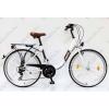 """CSEPEL Budapest B 26""""-os városi kerékpár 7sebességes, fehér/barna"""