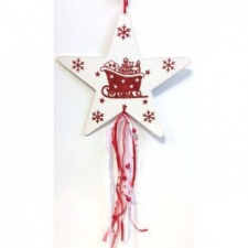Csillag glitteres karácsonyi dekoráció