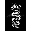 Csillám tetováló sablon #47 - Sárkány