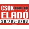 CSOK ingatlan eladó színes felirat, matrica, tábla, ponyva 65×47 cm (piros-fehér-fekete)