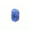 Csúszó Swarovski kristályos ezüst medál. Kék.