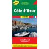 Côte d´ Azur Top 10 tipp autótérkép - f&b AK 0402