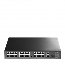 Cudy fs1026ps1 - 24 rj-45 10/100m+2 gigabit rj- 45 +1 gigabit combo 24 poe  switch hub és switch