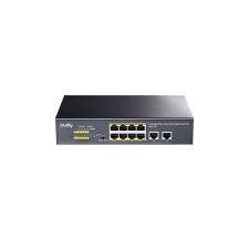 Cudy Switch 8x1000Mbps (8xPOE+) + 2x1000Mbps Uplink, Fémházas Asztali, GS1010P V2 hub és switch