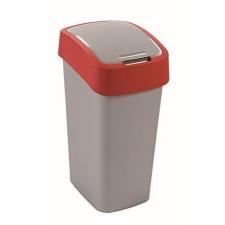CURVER Billenős szelektív hulladékgyűjtő, műanyag, 50 l, CURVER, piros/szürke (UCF03) szemetes