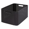 CURVER Műanyag tároló doboz STYLE BOX - L- barna CURVER