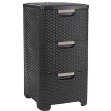 CURVER STYLE RATTAN 3 fiókos szekrény , barna 06604-210 bútor