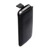 Cyoo iPhone 4/4S Luxury kihúzhatós bőr tok, fekete