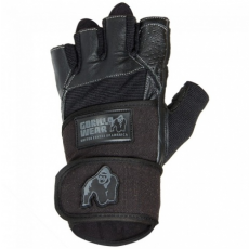 DALLAS WRIST WRAP GLOVES (BLACK) [XXL]