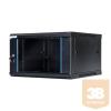 DBX START.LAN fali rack szekrény 19'' 6U 600x450mm fekete