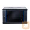 DBX START.LAN fali rack szekrény 19'' 6U 600x600mm fekete