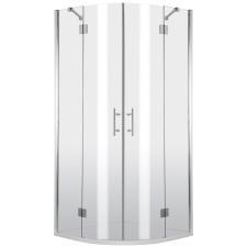 Deante Abelia íves nyílóajtós zuhanykabin átlátszó üveggel, 100x100 cm kád, zuhanykabin