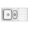 Deante 'Deante VIRGO Rozsdamentes mosogató, 1,5 medence + csepegtető, szatén, 970 x 500 mm'