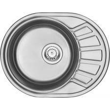 Deante Stock 1 medencés acél mosogató rövid csepegtetővel, szatén mosogatótálca