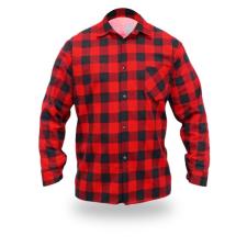DEDRA BH51F1-XL flanel ing piros, méret xl, 100% pamut munkaruha